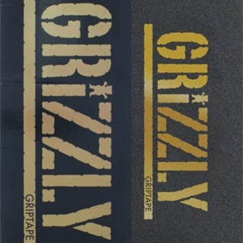 Grizzly 20/box Stamp Black/Gold Griptape