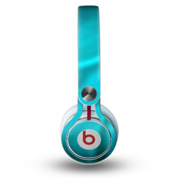 The Turquoise Highlighted Swirl Skin for the Beats by Dre Mixr Headphones