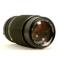 Vintage Nikon 75-205mm f3.5-4.5 Zoom Lens by Vivitar for Nikon SLR 35mm Cameras AiS Mount (L1062)