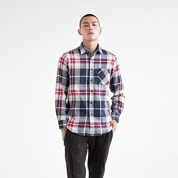 FLANNEL SHIRT Men's Long-sleeved Cotton Casual