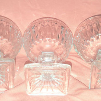 Indiana Glass Co Clear Sherbert / Ice Cream / Champagne Glasses Mt Vernon Pattern / Champagne Coupes / Sherbert Stem Glasses