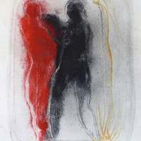 Saatchi Art: Red and Black 2 Painting by Frederic Belaubre