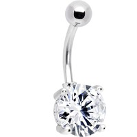 Crystalline SULTRY SOLITAIRE GEM Belly Button Ring
