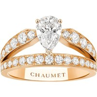 CHAUMET - Joséphine 18ct yellow-gold and diamond tiara ring | Selfridges.com