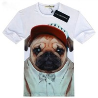 MENS AND WOMENS DOG PRINT T-SHIRT