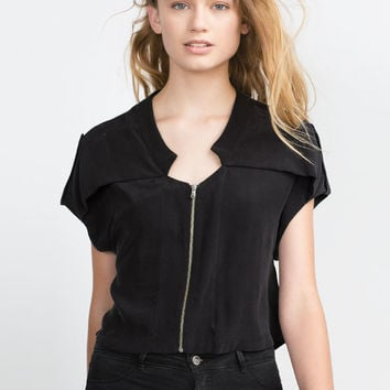 SHIRT WITH FRONT ZIP