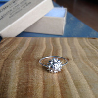 Bohemian Sterling Silver Sun Ring - custom made to order