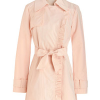 Pastel Long Long Sleeve Metropolitan Miss Coat in Blush
