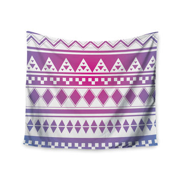 "Belinda Gilles ""Rainbow Aztec"" Purple Blue Wall Tapestry"