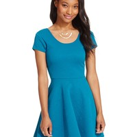 Planet Gold Juniors' Textured Fit & Flare Dress