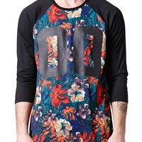 On The Byas Floral Sub Baseball T-Shirt - Mens Shirt