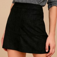 Shenandoah Black Suede Mini Skirt