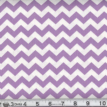 Chevron Fabric, 100 percent cotton, Lilac , small one half inch pattern, supplies, fabric, sewing
