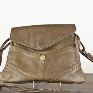 Vintage Towanny Brown Leather Handbag, Matching Change Purse