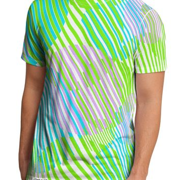 Geometric Circles Pattern AOP Men's Sub Tee Dual Sided All Over Print T-Shirt by TooLoud