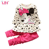 LZH Girls Clothes Set 2017 Spring Autumn Kids Clothes T-shirt+Pant Outfit Children Girls Sport Suit Toddler Girls Clothing Sets