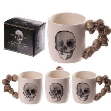Skulls ceramic cups creative coffee cups water cups