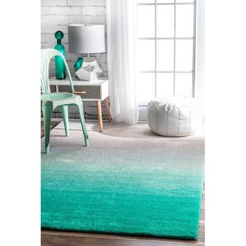 Bierman Hand-Tufted Turquoise/Gray Area Rug