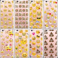 Fashion Lovely Funny Emoji Case For iphone 6 6s 5 5s se 7 7Plus