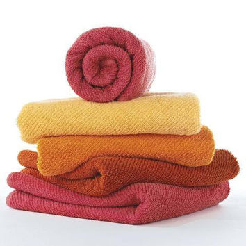 Twill Bath Towels by Abyss and Habidecor