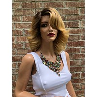 Blonde Volume Curls Hair Swiss Lace Front Wig 10"