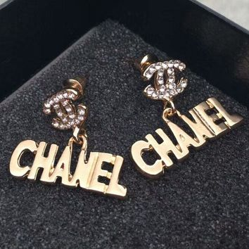 CHANEL Fashion new diamond lips tassel bow tie more style rainbow color earrings accessories women