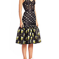 Alexander McQueen - Jacquard Bustier Dress - Saks Fifth Avenue Mobile