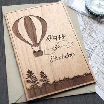 Hot Air Balloon Milestone Birthday Card