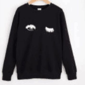 Eye printing personalized fashion sweater