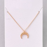 Over the Moon Necklace - Gold