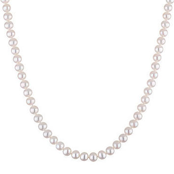 Honora 6-6.5mm White Freshwater Cultured Pearl Necklace