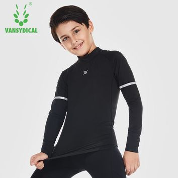 Boy's Compression Running Tees Breathable Long Sleeve Basketball Football Jerseys Sports Base Layers Ourdoor Training Shirts