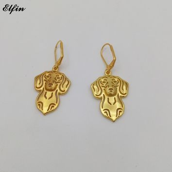 Unique Dachshund Dog Drop Earrings in Gold or Silver tone! **LIMITED SUPPLY**