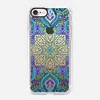 Gypsy Lace - purple, green and aqua iPhone 7 Case by Micklyn Le Feuvre | Casetify