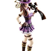NuoYa001 Hot LOL League Cosplay of Legends Figure Sheriff of Piltover Caitlyn 27cm PVC
