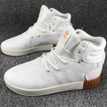 ADIDAS TUBULAR INVADER Tide Brand Fashion Canvas Trend Sneakers F-CSXY white