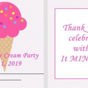 20 Ice Cream Birthday Party Mint Favors