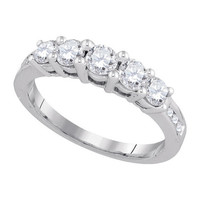 Diamond Fashion Ring in 14k White Gold 1.01 ctw