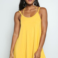 Chic Yellow Mini Dress