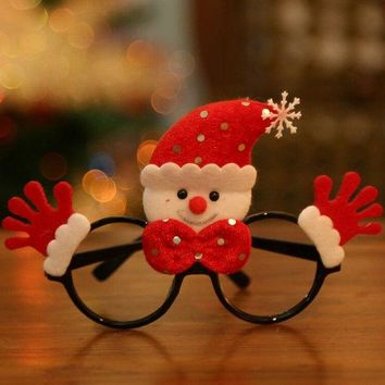 Christmas Cartoon Snowman Glasses Frame Decoration