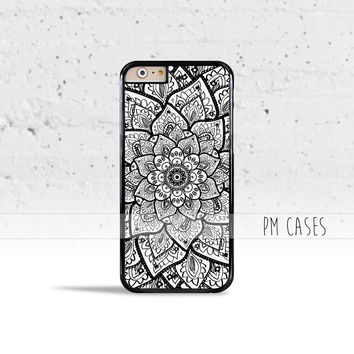 Mandala Flower Case Cover for Apple iPhone 4 4s 5 5s 5c 6 6s SE Plus & iPod Touch