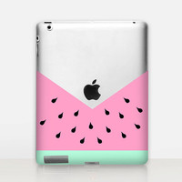 Watermelon Transparent iPad Case For - iPad 2, iPad 3, iPad 4 - iPad Mini - iPad Air - iPad Mini 4 - iPad Pro