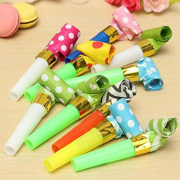 DCCKL72 10Pcs/pack Children Blowing Whistle olume Blow Horn Noise Maker Clown Party Event Supplies Strange Child Baby Toys
