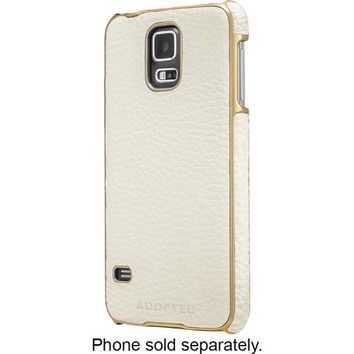 ADOPTED - Snap Case for Samsung Galaxy S 5 Cell Phones - White/Gold