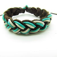 fashion Adjustable leather Cotton Rope Woven Bracelets mens bracelet cool bracelet jewelry bracelet bangle bracelet  cuff bracelet 766S