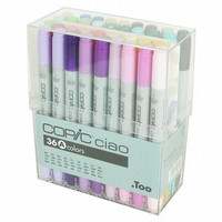 Too. Copic Marker Set - Ciao 36 Colors Pen Set A - Japan Drawing Markers, Anime, Animation, Manga Art Supplies - Non-Toxic, Entry Model