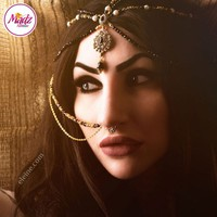 Madz Fashionz UK: Eleine Exquisite Gold Nawab Bridal Nath Nose Ring