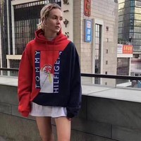 Tommy Hilfiger x VETEMENTS Women Hot Hoodie Sweater