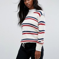 Carhartt WIP Jumper With Stripe In Wool Mix at asos.com