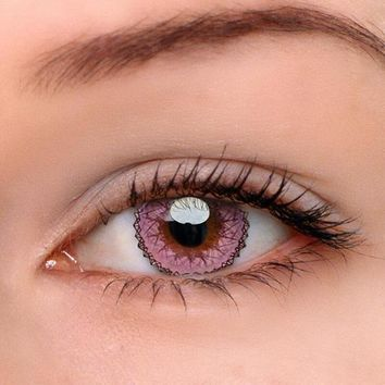 EyeDream® Eye Circle Lens Muse Pink Colored Contact Lenses
